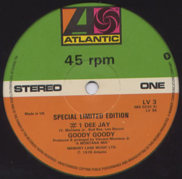 GOODY GOODY - #1 Dee Jay / You Know How Good It Is - 12 inch x 1