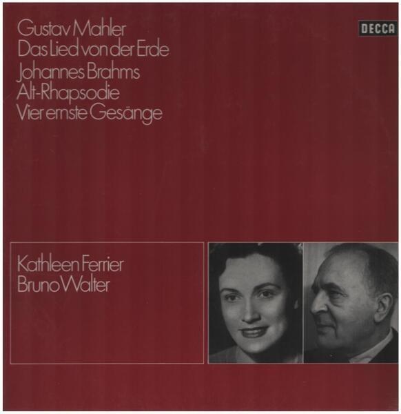 #<Artist:0x00007fd8e5303610> - Gustav Mahler Das Lied Von Der Erde / Johannes Brahms Alt-Rhapsodie Vier ernste Gesänge