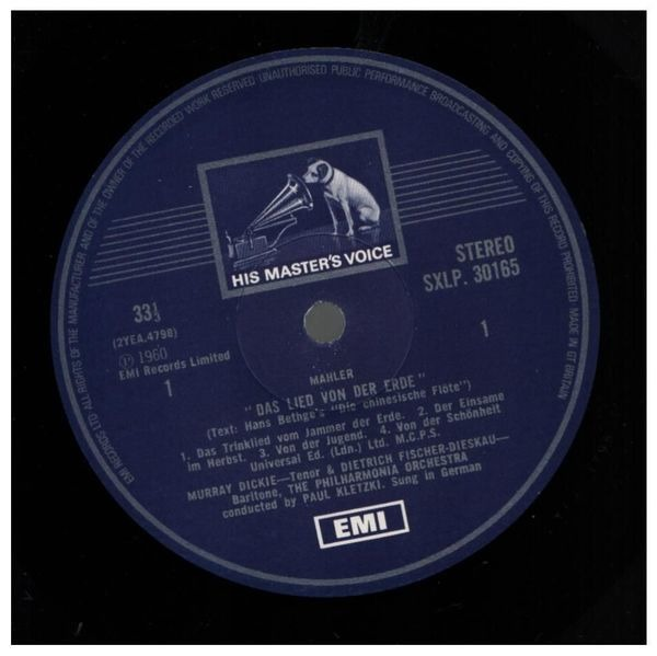 Gustav Mahler , Dietrich Fischer-Dieskau , Murray Das Lied Von Der Erde