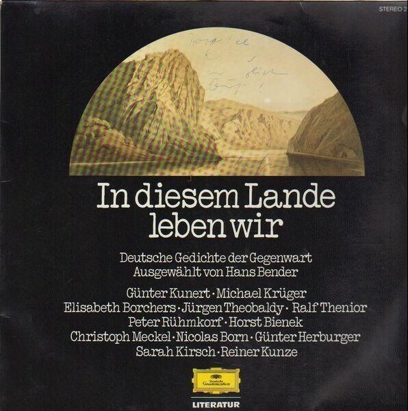 Hans Bender Hrsg In Diesem Lande Leben Wir Deutsche Gedichte Der Gegenwart