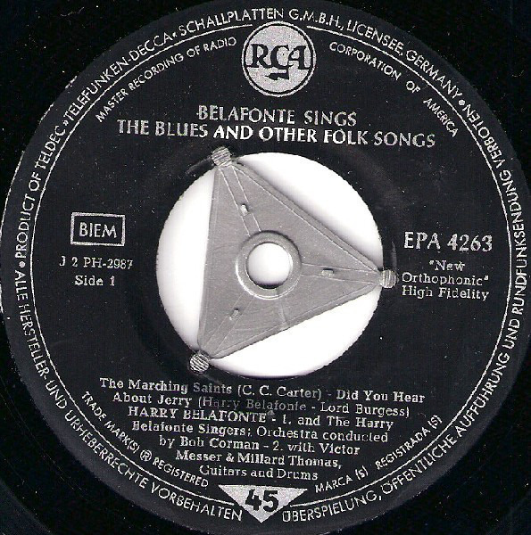 #<Artist:0x007f3eef9a9b30> - Belafonte Sings the Blues