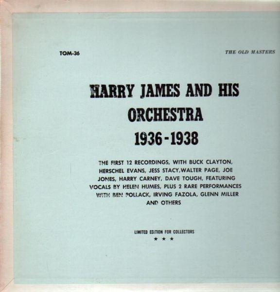 Harry James and his Orchestra 1936-1938 (GREEN TRANSLUCENT VINYL)