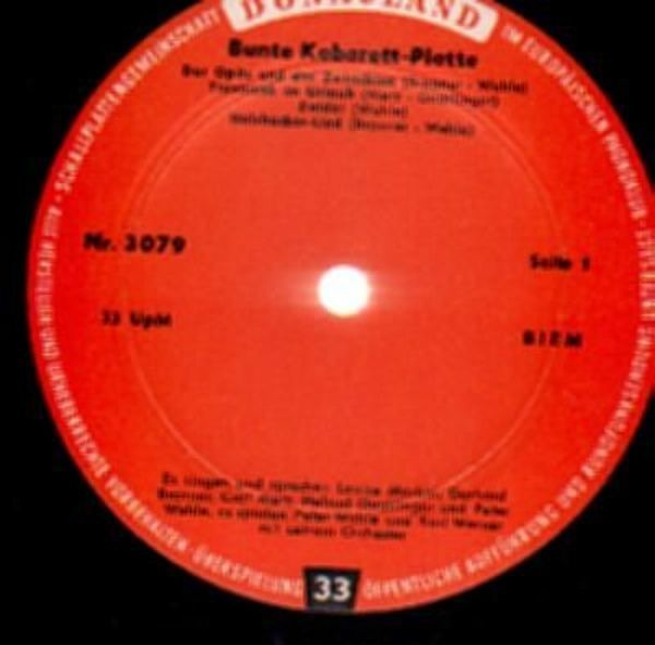 #<Artist:0x007f443b4323b8> - Bunte Kabarett-Platte