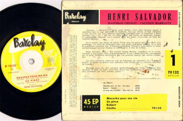 Henri Salvador 1 - Mazurka Creoles - Calypso Marrants
