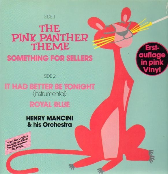 HENRY MANCINI & HIS ORCHESTRA - The Pink Panther Theme - Maxi x 1