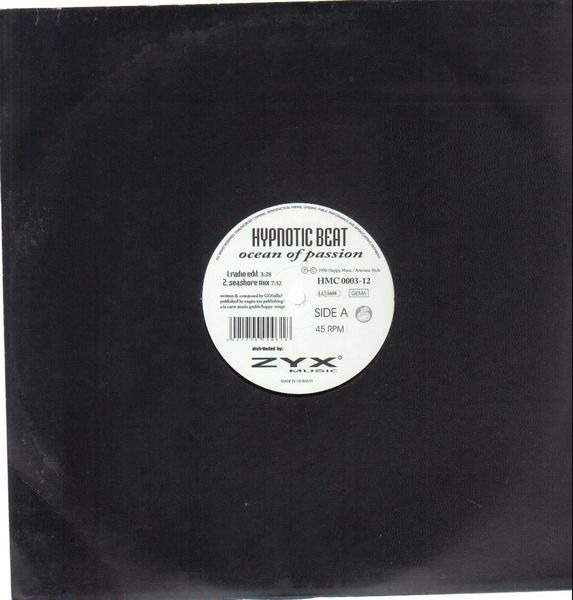 HYPNOTIC BEAT - Ocean Of Passion - 12 inch x 1