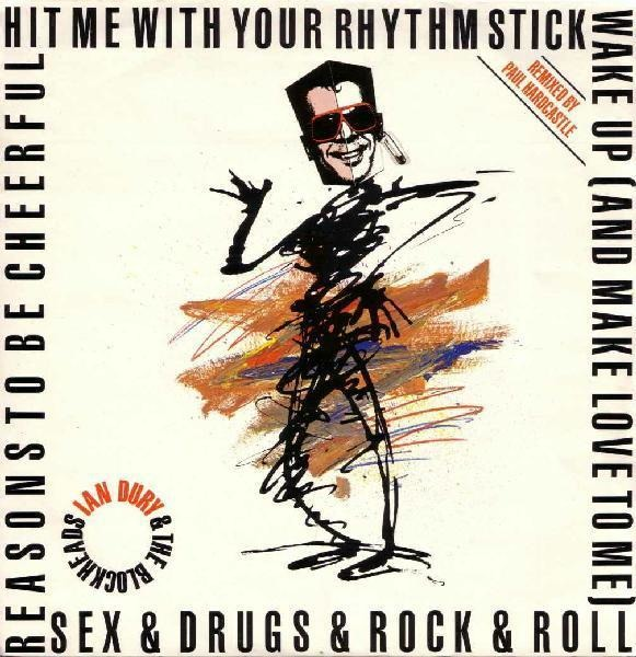 IAN DURY AND THE BLOCKHEADS - Hit Me With Your Rhythm Stick (Remixed By Paul Hardcastle) - 12 inch x 1
