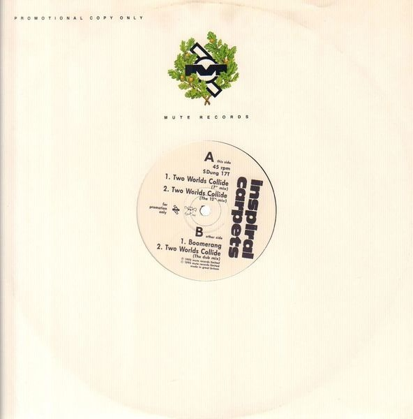 INSPIRAL CARPETS - Two Worlds Collide (PROMO) - LP