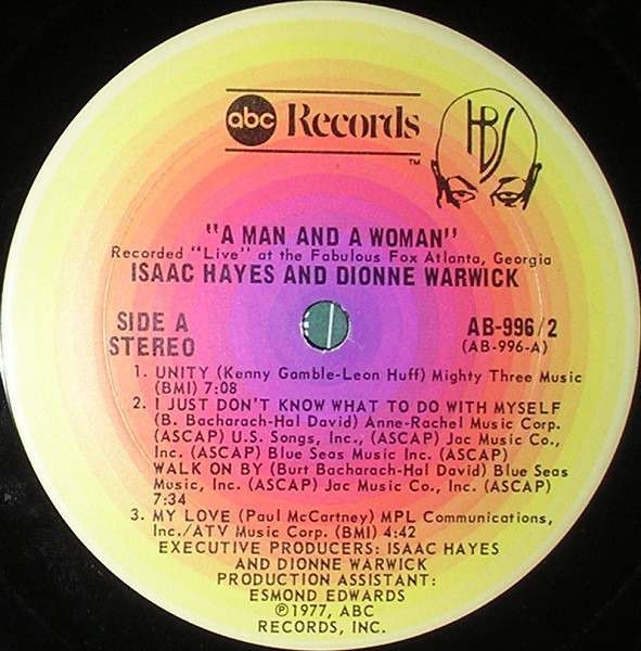 Isaac Hayes & Dionne Warwick A Man And A Woman (GATEFOLD)