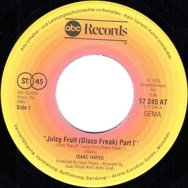 #<Artist:0x007f41c869cc68> - Juicy Fruit (Disco Freak) Part I / Part II