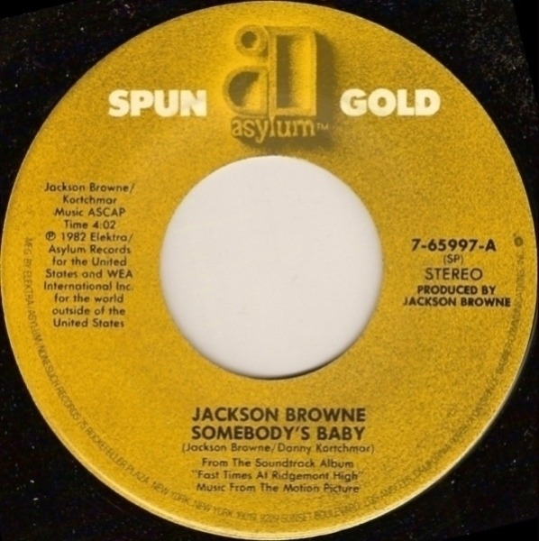 Jackson Browne - Somebody's Baby Single