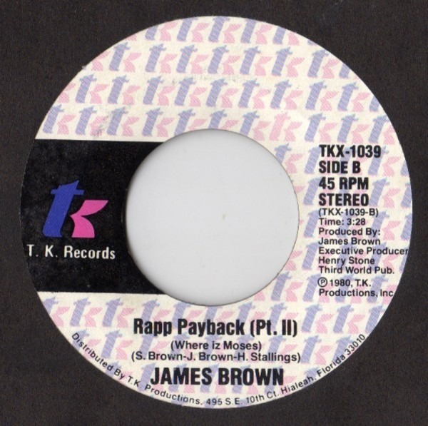James Brown Rapp Payback (Where Iz Moses)