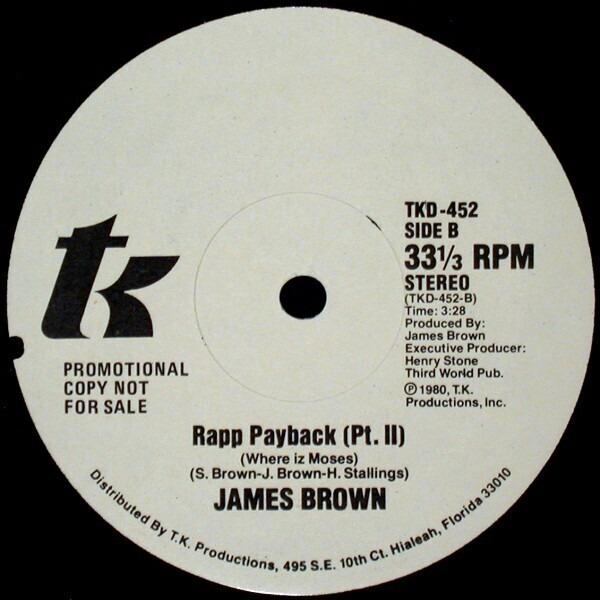 James Brown Rapp Payback (Where Iz Moses) (PROMO)