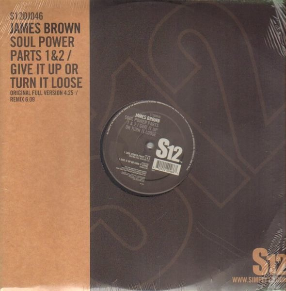 JAMES BROWN - Soul Power Parts 1&2 / Give It Up Or Turn It Loose (STILL SEALED) - Maxi x 1