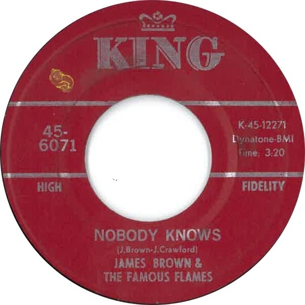 James Brown & The Famous Flames Bring It Up / Nobody Knows (RED LABEL)