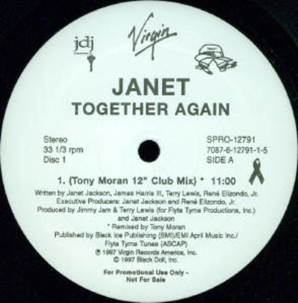 JANET, JANET JACKSON - Together Again (SIDE A/B ONLY!!!) - Maxi x 1