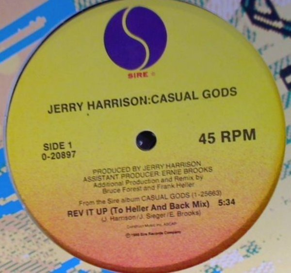 JERRY HARRISON : CASUAL GODS, THE CASUAL GODS - Rev It Up - 12 inch x 1