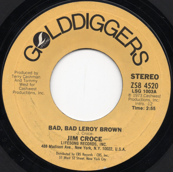 #<Artist:0x007f822f1ece78> - Bad, Bad Leroy Brown / I'll Have To Say I Love You In A Song