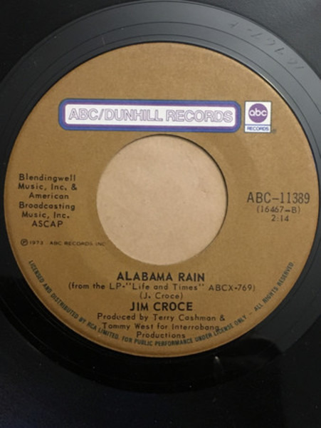 #<Artist:0x007f4840db69a8> - I Got A Name / Alabama Rain