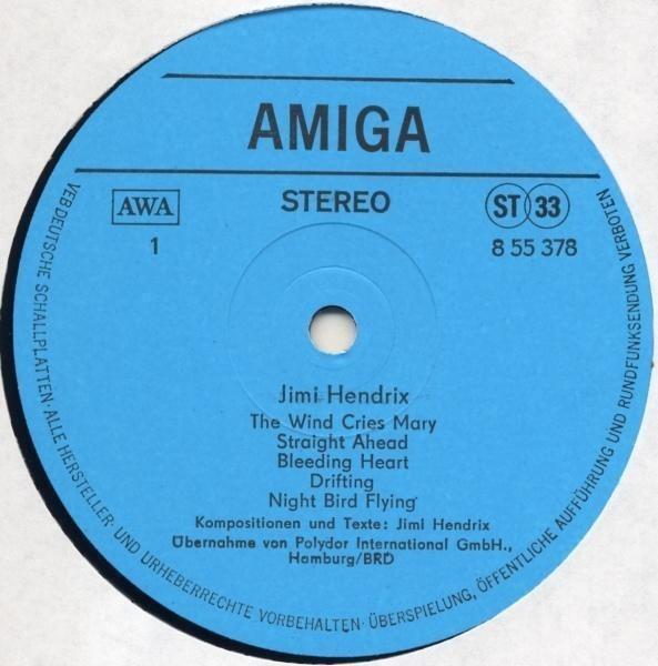 Jimi Hendrix Amiga-Edition (BLUE LABELS)