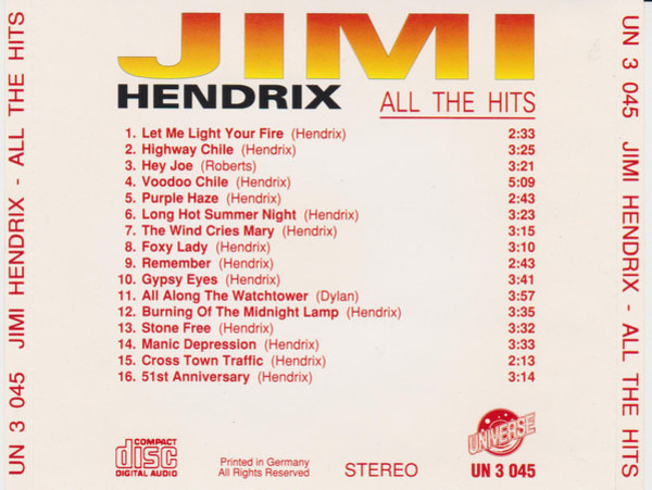 Jimi Hendrix All The Hits