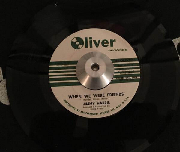 JIMMY HARRIS - When We Were Friends - 7inch x 1