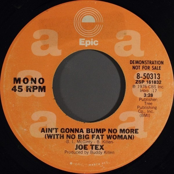 #<Artist:0x00007f64cea08180> - Ain't Gonna Bump No More (With No Big Fat Woman)