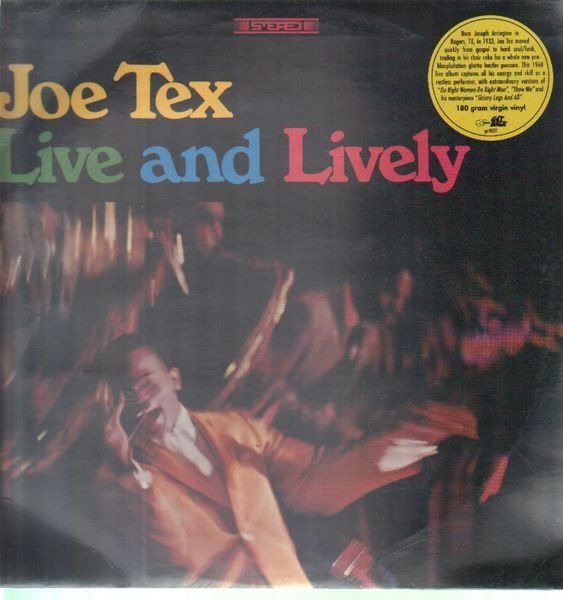 JOE TEX - Live And Lively (SEALED) - LP