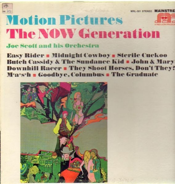JOE SCOTT AND HIS ORCHESTRA - Motion Pictures The Now Generation - LP