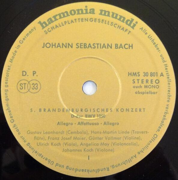 Johann Sebastian Bach , Gustav Leonhardt , Hans-Ma Brandenburgische Konzerte Nr. 5 u. 6