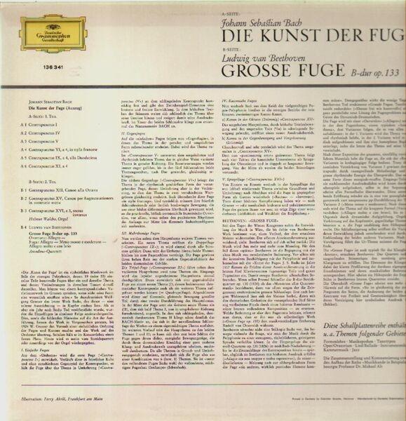 Johann Sebastian Bach , Ludwig van Beethoven Die Kunst Der Fuge, Grosse Fuge B-Dur Op. 133 (+ BOOKLET, TULIP RIM)