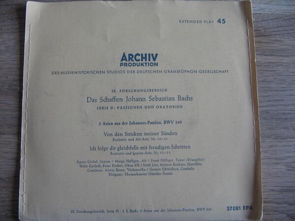 Johann Sebastian Bach , Thomanerchor , Günther Ram 2 Arien Aus Der  Johannes-Passion, BWV 245