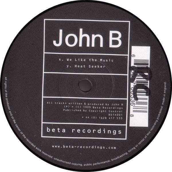 JOHN B - We Like The Music / Heat Seeker - Maxi x 1