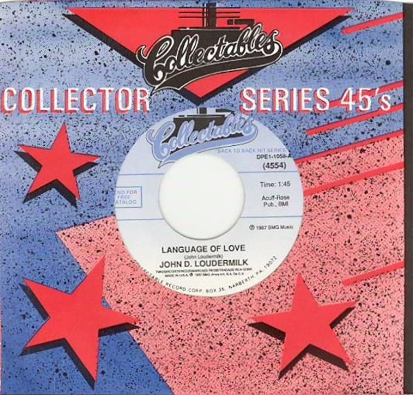 JOHN D. LOUDERMILK - Language Of Love / Then You Can Tell Me Goodbye - 7inch x 1