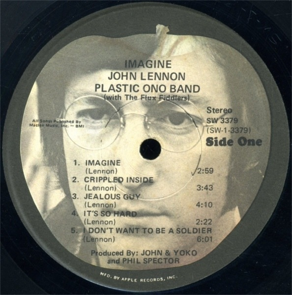 John Lennon Imagine NO INSERTS