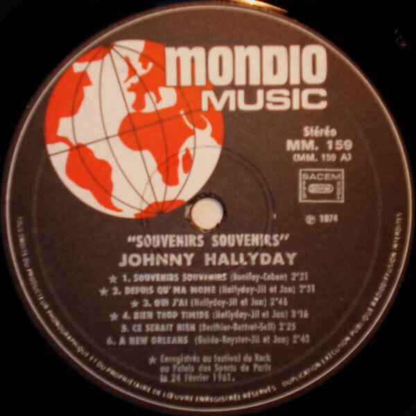 Johnny Hallyday 'Souvenirs, Souvenirs'