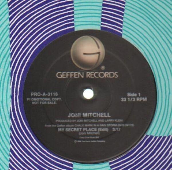JONI MITCHELL - My Secret Place (PROMO) - 12 inch x 1