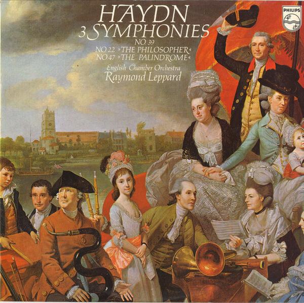 Joseph Haydn , English Chamber Orchestra , Raymond 3 Symphonies No. 39, No. 22 'The Philosopher', No. 47 'The Palindrome'