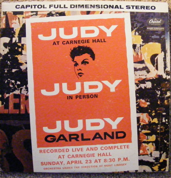 JUDY GARLAND - Judy At Carnegie Hall - Judy In Person - LP x 2