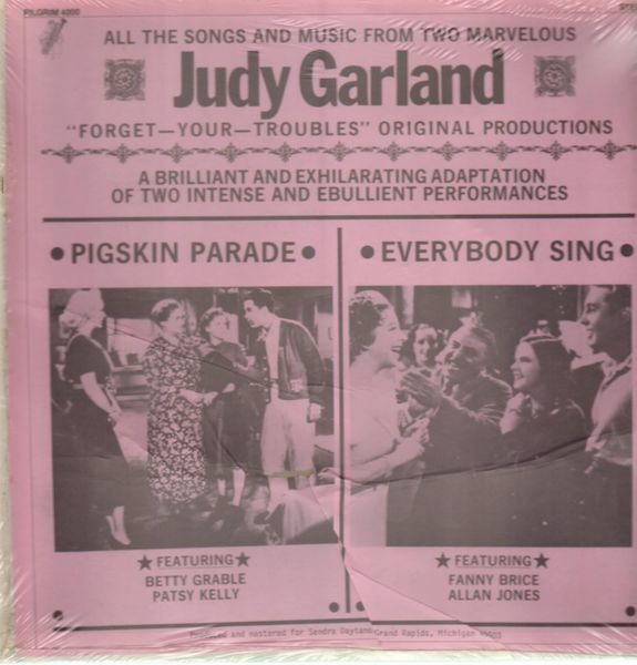 JUDY GARLAND - Pigskin Parade, Everybody Sing - LP