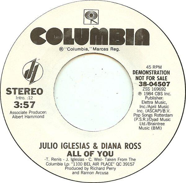 Julio Iglesias & Diana Ross All Of You