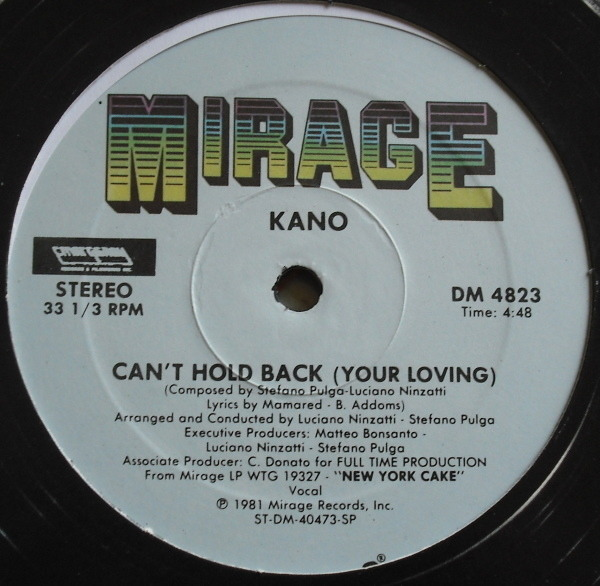 #<Artist:0x00007fd8c8289918> - Can't Hold Back (Your Loving) / She's A Star