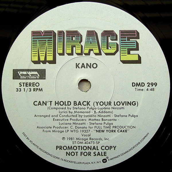 #<Artist:0x00007f4e0df0b268> - Can't Hold Back (Your Loving)