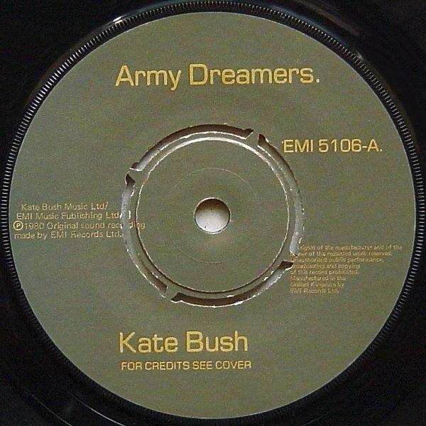 Kate Bush Army Dreamers (BLACK COMPANY SLEEVE)
