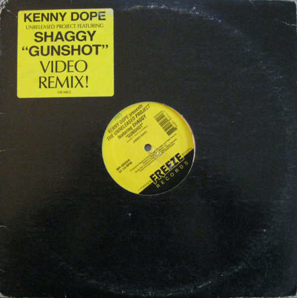 KENNY 'DOPE' GONZALEZ, SHAGGY - The Unreleased Project - Gunshot - 12 inch x 1