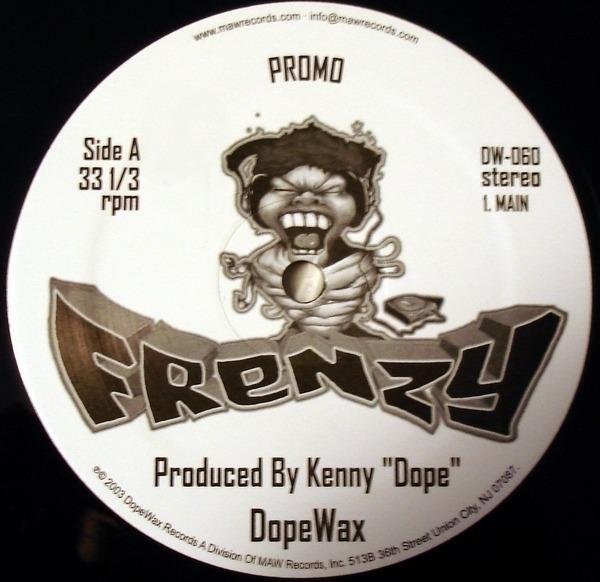 KENNY DOPE, KENNY 'DOPE' GONZALEZ - Frenzy (PROMO) - 12 inch x 1
