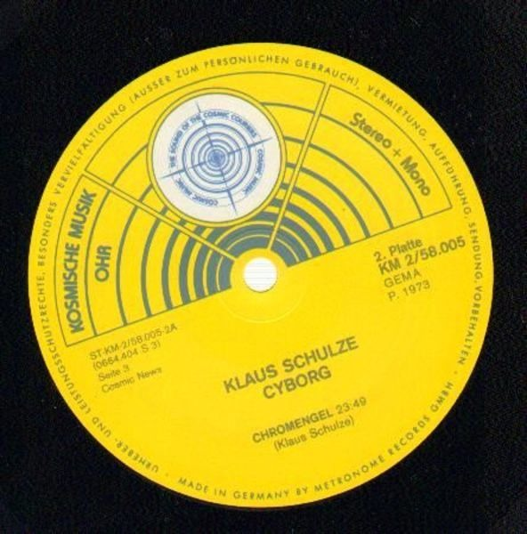 Klaus Schulze cyborg (original 1st german pressing kraut)