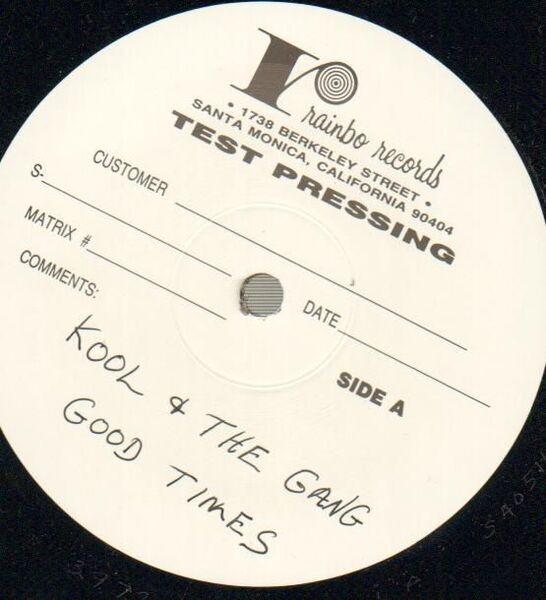 KOOL AND THE GANG, KOOL & THE GANG - Good Times (TEST PRESS!!) - LP