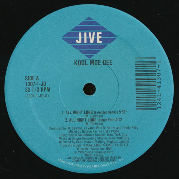 Kool Moe Dee All Night Long