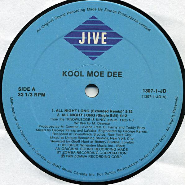 Kool Moe Dee All Night Long